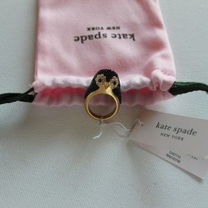 NWT Adorable Kate Spade Penguin Ring! Size 6. 🐧